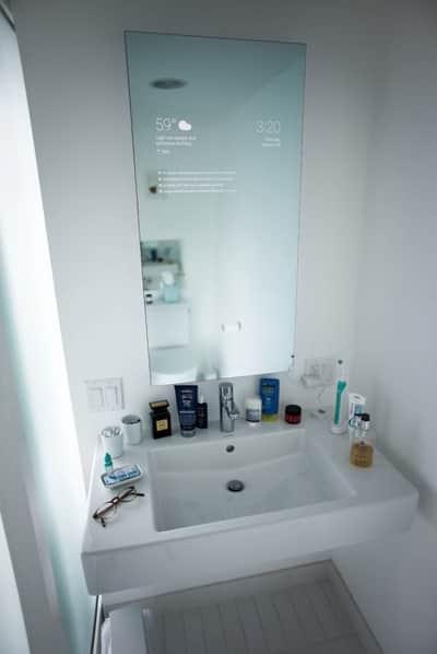 Google Now poder� mostrar informa��es no espelho do banheiro