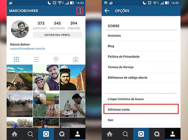 Como usar mais de uma conta no Instagram?