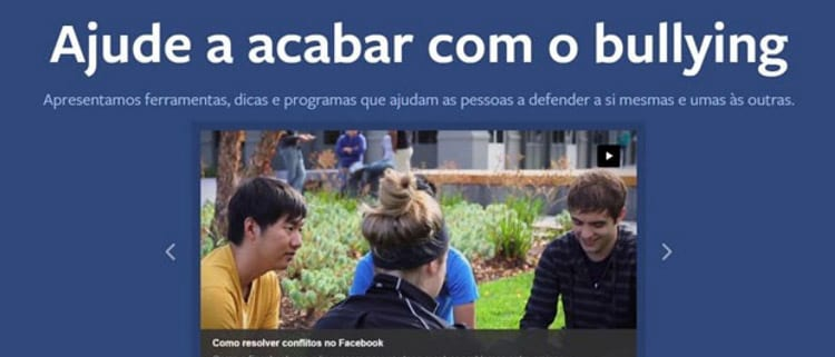 Plataforma do Facebook contra bullying chega ao Brasil