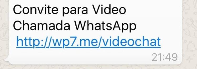 Convite para realizar videochamadas no WhatsApp é falso e infecta celulares com vírus