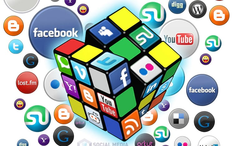 Facebook lidera a lista das redes sociais com maior número de usuários ativos.