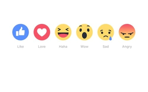 Facebook lança novos botões além do Curtir