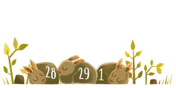 Doodle do Google homenageia Ano Bissexto
