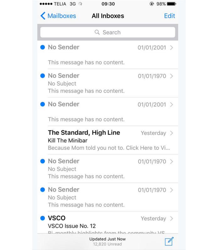 E-mail fantasma do iPhone não pode ser excluído!