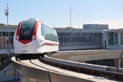 O aeromóvel da capital gaúcha Porto Alegre