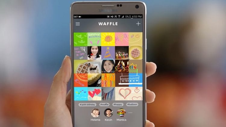 Waffle, a nova rede social da Samsung.