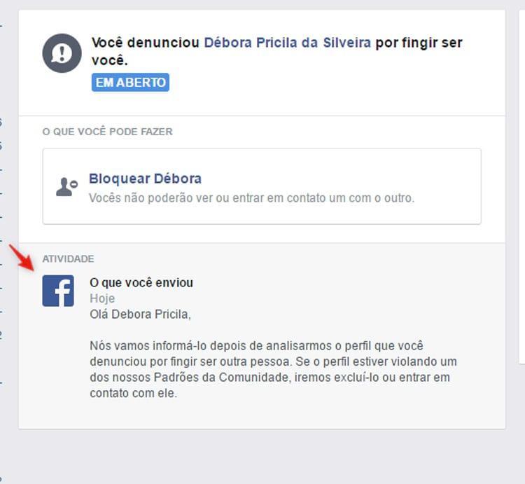 Como denunciar uma conta falsa no Facebook?