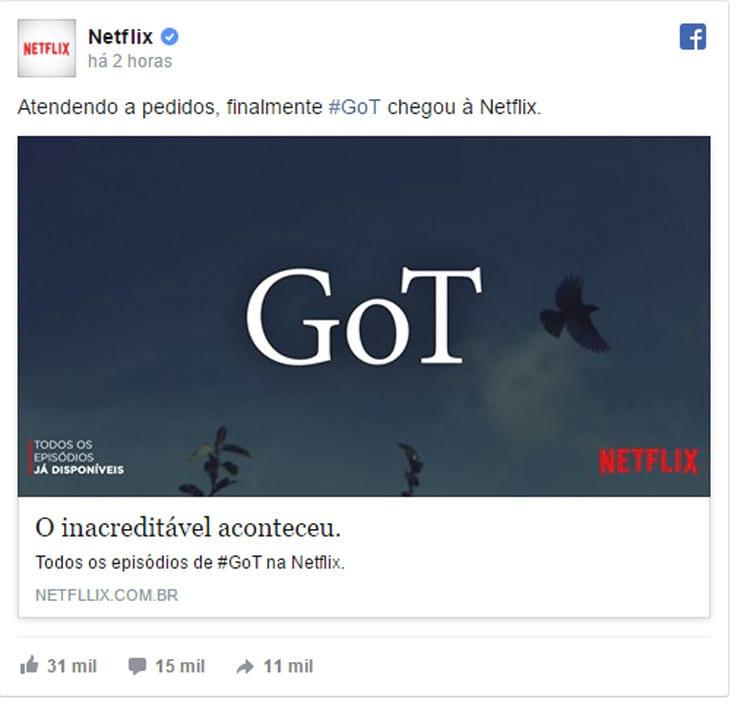 Netflix entra no clima de 1º de abril e faz brincadeira com fãs de série