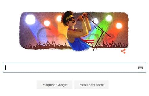 Doodle do Google celebra aniversário de Cazuza