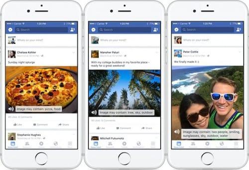 Deficientes visuais terão imagens descritas pelo Facebook