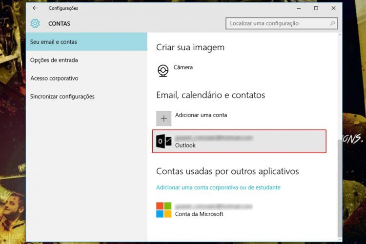 Como desvincular uma conta da Microsoft do Windows 10?