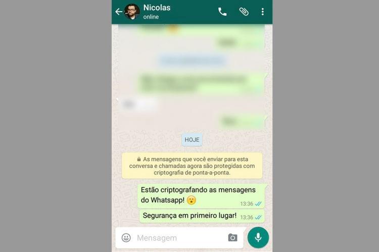 WhatsApp comunica seus usuários sobre criptografia no aplicativo