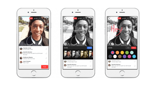Vídeos ao vivo do Facebook recebem novos recursos