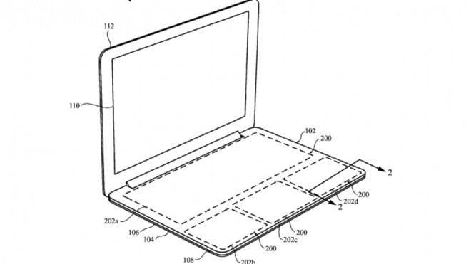 Petente registrada pela Apple mostra teclado sem teclas convencionais, o que deixaria o Macbook ainda mais fino.