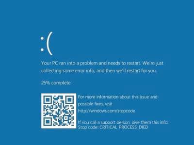 Tela azul da morte do Windows 10 � modificada