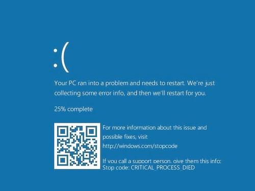 Tela azul da morte do Windows 10 é modificada