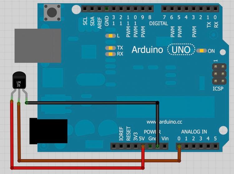Conhecendo o Arduino Uno - Aula 12 - Lendo temperatura com o LM35
