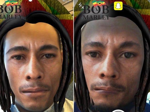 Filtro no Snapchat de Bob Marley não agrada a todos