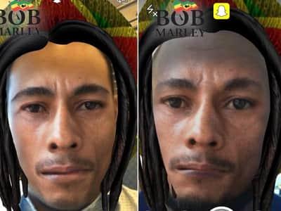 Filtro no Snapchat de Bob Marley n�o agrada a todos