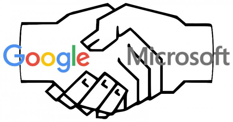Google e Microsoft selam acordo de paz