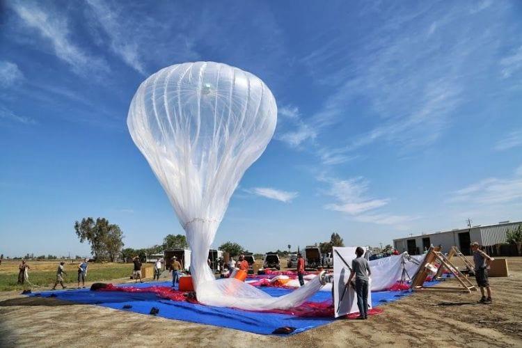 Balão de internet do Google cai no Chile