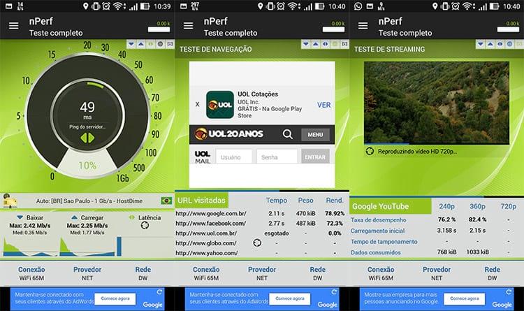 nPerf, o aplicativo ideal para medir a velocidade da sua conexão