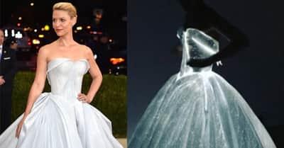 Cinderela iluminada: Claire Danes brilha, literalmente, no Met Gala 2016
