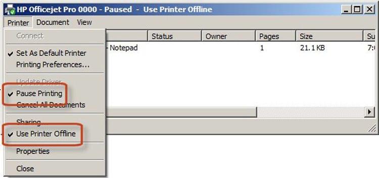 Imagem: Suporte Impressoras HP