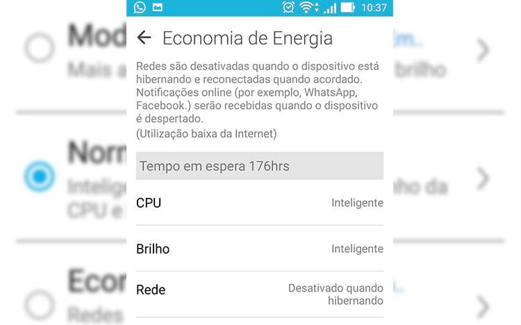 Zenfone 2: Como ativar o modo de economia da bateria?