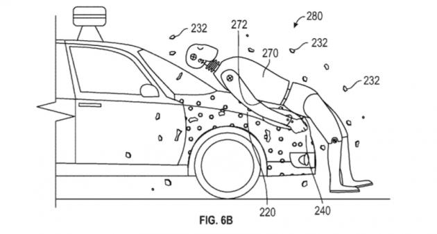 Google patenteia cola que poderá ser usada em capôs de carros. O objetivo é fazer com que um pedestre atropelado fique grupado ao carro e não arremesado ou mesmo atropelado novamente.