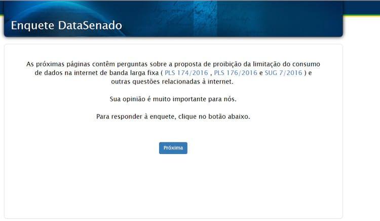 Senado lança enquete para saber opinião dos brasileiros sobre limitação de dados na internet fixa