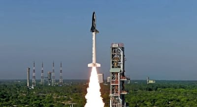 Teste de nave reutiliz�vel indiana � um sucesso