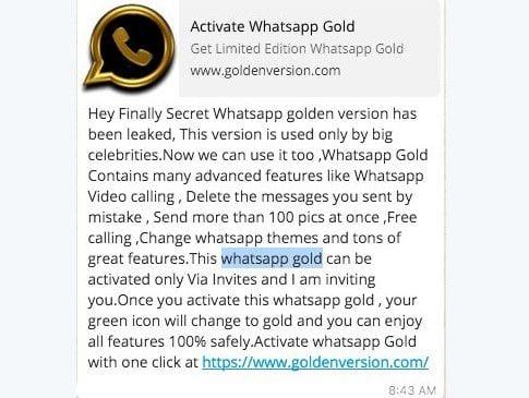 WhatsApp Gold atrai muitos usuários. Cuidado! É golpe