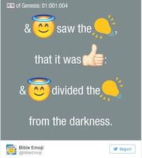 Bíblia é traduzida através de emojis