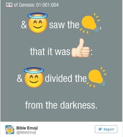 B�blia � traduzida atrav�s de emojis