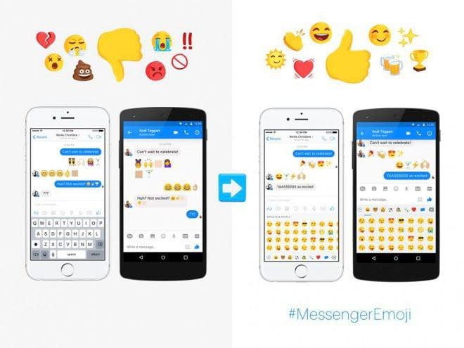 Messenger, do Facebook, conta agora com novas opções de emojis.