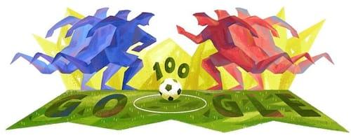 Doodle do Google homenageia início da Copa América Centenário