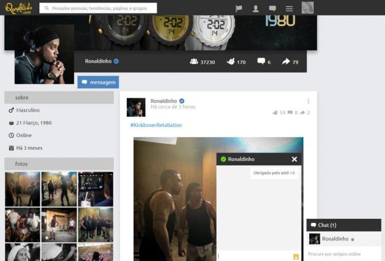 Ronaldinho lança rede social própria