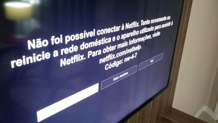 Netflix fora do ar