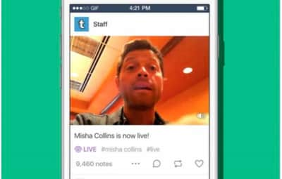 Tumblr disponibiliza recurso de vídeo ao vivo