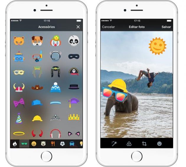 Com a novidade será possível acrescente figurinhas nas imagens. O recurso já vem sendo usado também no Facebook e Snapchat.