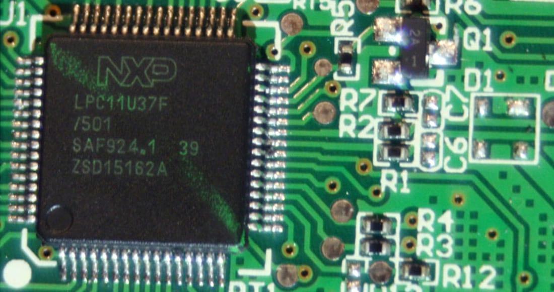 Imagem do microcontrolador do Strafe RGB