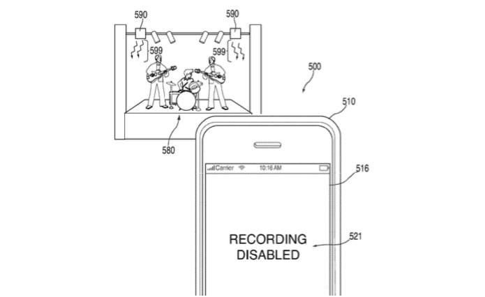 Apple poderá bloquear câmera do iPhone em shows