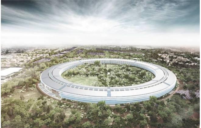 Sede da Apple é quase pronta. Imagens da evolução da obra estão sendo postadas em um canal do YouTube. Drone é o responsável pela coleta das iamgens.