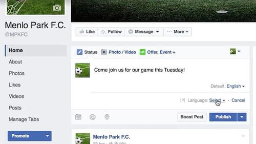 Facebook deve liberar tradução automática de posts