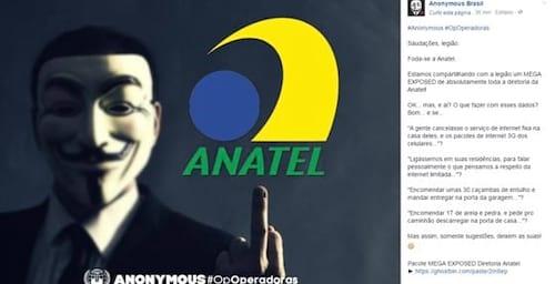 Anonymous divulga dados da diretoria da Anatel