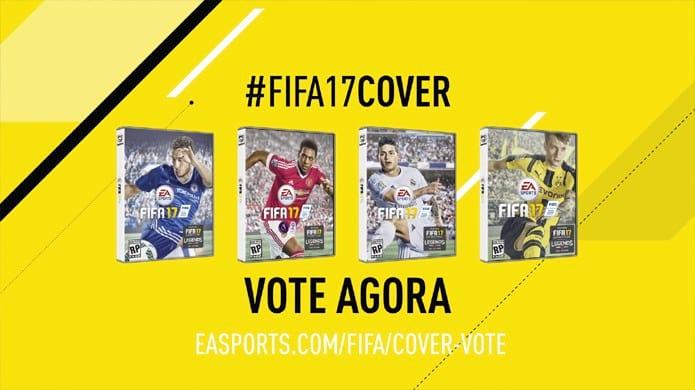 Fãs poderão escolher o integrante da capa do Fifa 17. Game será lançado em 29 de setembro.