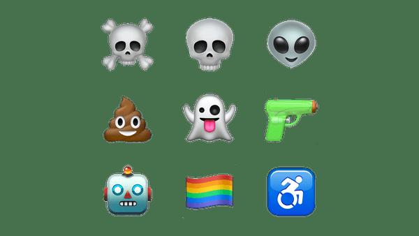 Emoji de revólver foi substituído por pistola de brincadeira.
