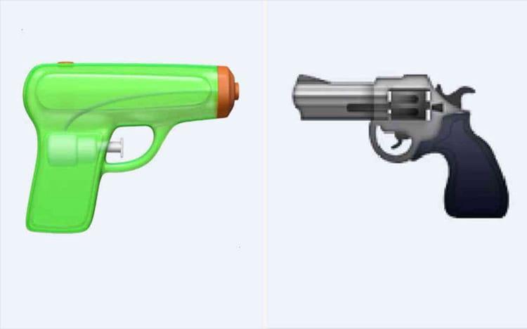 Apple altera emoji de revolver por pistola de água