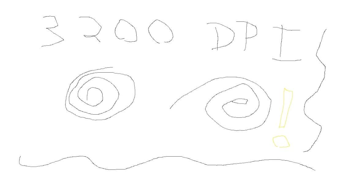 Algumas distorções em 3200 DPIs